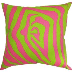 pink and green pillow