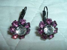 Alex & Ani Pink & White Rhinestone Pierced Earrings ~ LOVELY! - http://designerjewelrygalleria.com/alex-ani/alex-ani-pink-white-rhinestone-pierced-earrings-lovely-2/