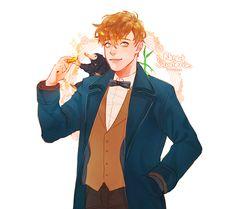 chunsik4: Fantastic Beasts   Newt Scamander  /  Niffler /  Bowtruckle(picket)