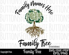 Family Reunion svg, Family tree svg, tree svg, roots svg, template, cutting file, reunion svg, famil