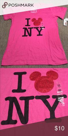 NWT Disney I ❤️ NY Tee Shirt Exclusive NWT Disney I ❤️ NY Tee Shirt New York City Times Square Exclusive. Size L. Disney Tops Tees - Short Sleeve