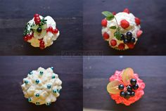 Muffins with creme and some fruits ;)