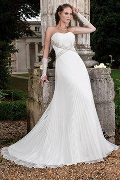 du 38 de maries plisse ivoire mousseline plisse robes crmonie marie princesse mariage 2015 tenue de robe en tati mariage - Magasin Tati Mariage
