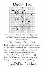 My Gift Tag Free Cross Stitch Chart from La-D-Da
