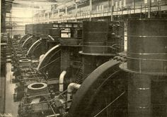 The Interborough Subway's Power House was built in NYC in 1904 and is the biggest steam power generating plant ever built. It is located at 11th Ave and 57th St and covers 432,000 sq feet, much of it 100s of feet underground. The building is ornate. It was a testament of genius, daring and imagination. It could generate 132,000 horsepower using 18,000 tons of coal per day. Though it has not operated in decades it could be started up again. Naturally, ConEdison wants to tear it down.