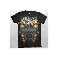 4e78bd808 Chelsea Grin Demon Tongue Shirt ($13) ❤ liked on Polyvore featuring tops  and shirt top