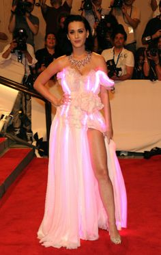 Katy Perry's lit-up gown back in 2010 will forever go down in history.