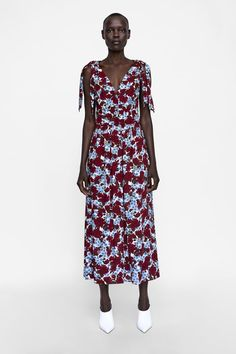 f11f2759951be Image 1 of FLORAL PRINT DRESS WITH TIES from Zara Yazlık Kıyafetler, Kız  Çocuğu Modası