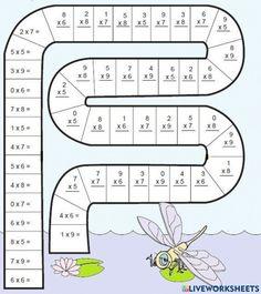 Kids Math Worksheets, Maths Puzzles, Math Activities, Math Exercises, Math School, Math Multiplication, Math Help, Third Grade Math, Basic Math