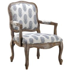 Featuring an eye-catching feather print and classic silhouette, this classic chair is perfect for curling up with a cozy throw and enjoying your latest myste...