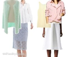 How to wear pastels over 40 - translating 2 runway looks | 40PlusStyle.com