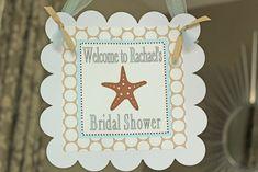 Beach Theme Bridal Shower Banner