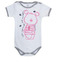 Body de Bebê Menina- 764 Kids, a melhor loja online de body e roupas de bebê ! - Branco - Branco
