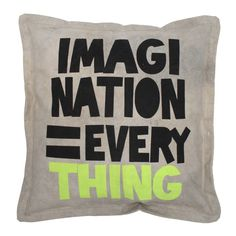 recycled canvas kussen imagination = everything - Kindercompagnie Cute Pillows, Throw Pillows, Bedroom Bed, Pillow Talk, Diy Projects To Try, Fabric Patterns, Home Deco, Home Accessories, Cushions