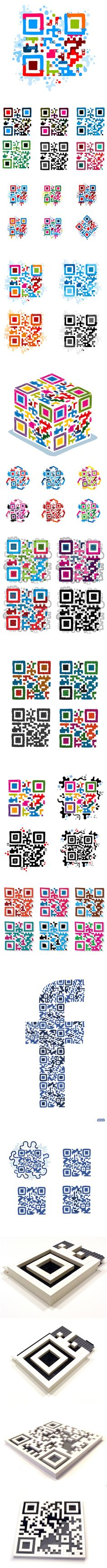 Infographic: QR Code Art by JESS3|Digital Buzz Blog - via http://bit.ly/epinner Facebook Image, Decoding, Mobile Marketing, Online Marketing, Códigos Qr, Code Art, Ui Elements, Qr Codes, App Icon