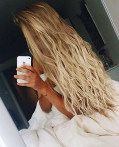 It's a lot more gorg when you not only have long hair but it isn't so boring and you can do things like this beach wave look :)