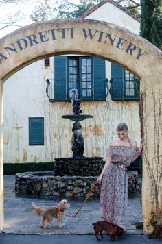 The Editorialite: Sipping Away The Winter Blues With Wine & Wags in Napa  / peasant dress / Hermes belt / off the shoulder maxi / maxi dress / wine country fashion / wine country style