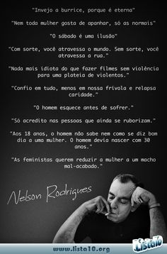 10 frases de Nelson Rodrigues