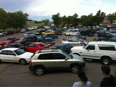 park like a douchebag day initiated by senior class as prank CAN WE PLEASE DO IT.
