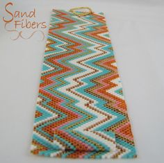 Peyote Pattern Wide Summer Abstract Cuff / Bracelet by SandFibers