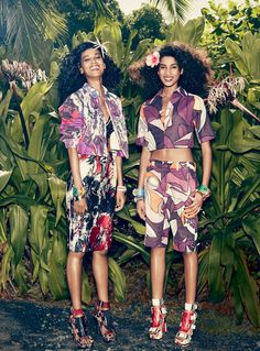 visual optimism; fashion editorials, shows, campaigns & more!: flower girls: liya kebede, imaan hammam and oscar isaac by mikael jansson for us vogue january 2014