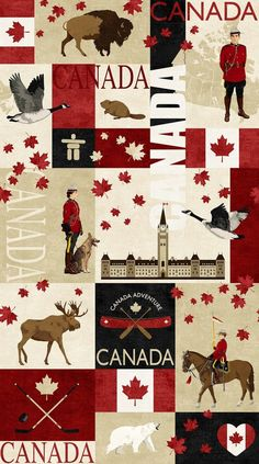 Canadian Classics Fabric by the yard / Canadian Mountie Fabric, Deborah Edwards Northcott Digital Yardage, Fat Quarters & Yardage This cotton fabric. Fabric width is More Canadian Classic Canadian Mounties Quilt Fabrics Here: Whistler Canada, Canada Day Images, Alberta Canada, Yandere, Quilts Canada, Fabric Canada, Canadian Quilts, Arte Do Harry Potter, Canada Maple Leaf