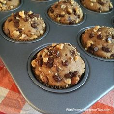 Chocolate Chip Banana Yogurt Muffins