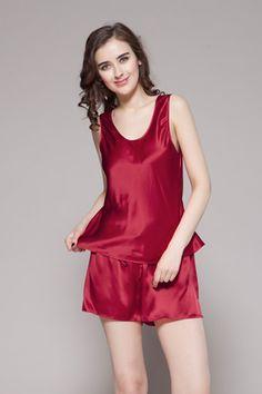 22 Momme Free Scoop Silk Camisole Set 4529e82de