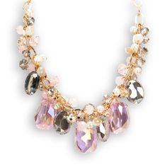 Leslie Danzis Dangly Chunk Bead Necklace #VonMaur #GoldandPink