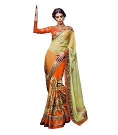 Buy Now Olive Designer Georgette with Net Pallu Bridal Saree with Heavy Work Blouse only at Lalgulal.com  Price :- 8,041/- inr. To Order :- http://bit.ly/PM853 COD & Free Shipping Available only in India #sarees #weddingsaree #saris #weddingwear #bridalwear #halfandhalf #allthingsbridal #bridalsuits #ethnicfashion #celebrity #shopping #fashion #bollywood #india #indiafashion #bollywooddesigns #onlineshopping #designersaree #partywear #collection #designechoice #wedding #designer #womenswear
