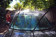 6 Homemade Car Cleaning Recipes - Fragrance-free, non-toxic cleaner for exterior, windows, tires, upholstery. Ingredients include castile soap, white vinegar, baking soda, olive oil & lemon juice. #fragrancefree