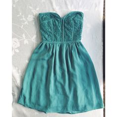 Turquoise Sweetheart Dress