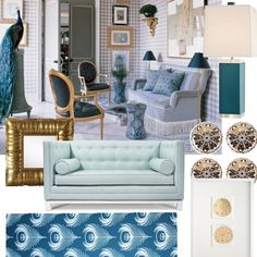 splashes of teal