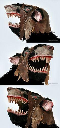 Stormvermin mask, skaven. by DenisPolyakov.deviantart.com