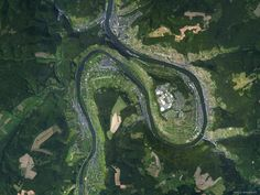 Satellite view of the what the Mosel Wine Valley actually looks like.  #Riesling #Germany #Mosel