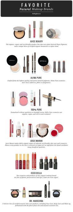 9 Favorite Natural Makeup Brands