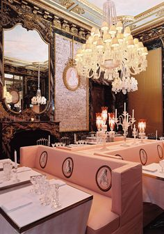 Baccarat restaurant crystal room, Paris, France.