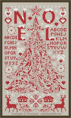 Christmas counted cross stitch