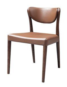 Union - Modern Brown Oak Dining Chair (Set of 2)