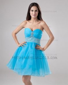 e697f349cb Mini A-Line Sweetheart Organza Prom Dresses