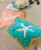 Starfish Dishcloths  Designed by Mary Ann Frits