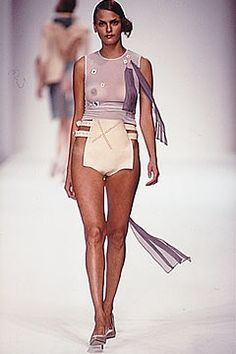 2000s Fashion, Fashion Models, Fashion Show, Fashion Outfits, Transparent Clothes, Strapless Bikini Top, Bikini Outfits, Skinny Girls, Beautiful Lingerie