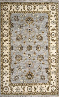 Traditional handmade oriental rug, finely knitted with top quality wool