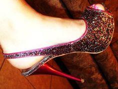 My favorite sparkly pink shoe, super comfy :)