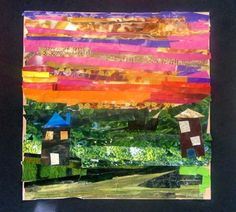 Love the sky collage - romare bearden inspired. magazines and painted paper? Jazz Artwork, Romare Bearden, Recycled Art, Art, Childrens Art, Collage Art, Art Lessons Elementary