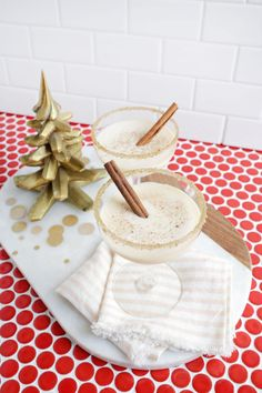Egg nog martini, yes please! (click through for recipe)