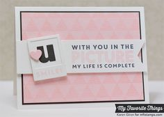 """LLD Picture This stamps from My Favorite Things  [""""U"""" can do it! -- """"U"""" can change someone's day... etc.]"""