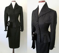 Amazing 1950's Designer Lilli Ann Two Piece Black by wearitagain, $698.00