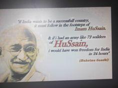Said by mahatma Gandhi