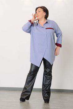Рубашка серо-голубая с асимметричной застежкой. Арт. 1406 - купить или заказать в интернет-магазине на Ярмарке Мастеров   Строгая стильная серо-голубая рубашка с четкими…